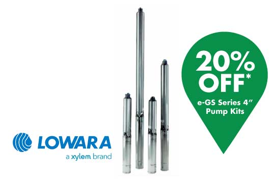 Lowara e-GS Series 4 Inch Pump Kits